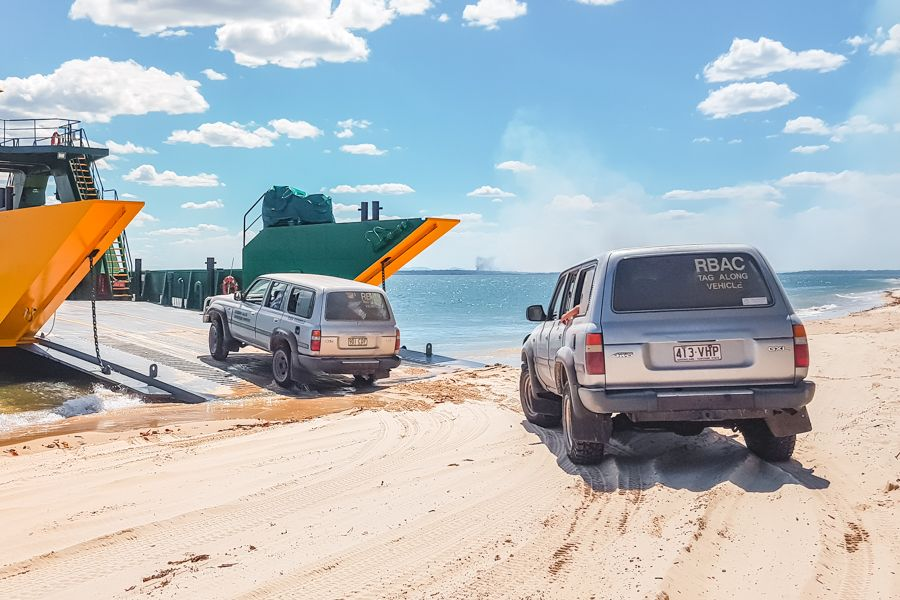 ferry, barge, fraser island